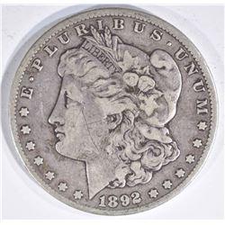 1892-CC MORGAN DOLLAR  FINE