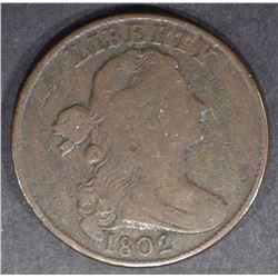 1802 LARGE CENT  FINE