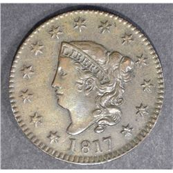 1817 LARGE CENT  AU/UNC  BROWN