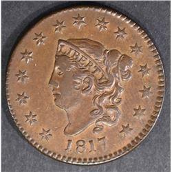 1817 LARGE CENT 15 STARS N-16