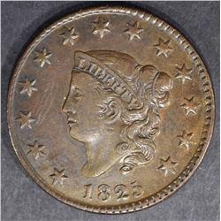 1825 LARGE CENT  AU/UNC