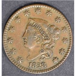 1828 LARGE CENT  LARGE WIDE DATE