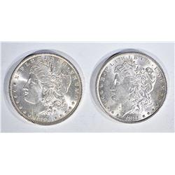 1881 & 96 CH BU MORGAN DOLLARS