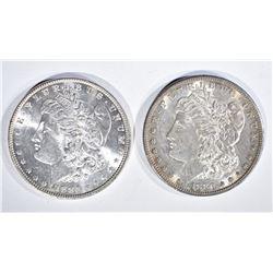 1880-S & 86 GEM BU MORGAN DOLLARS
