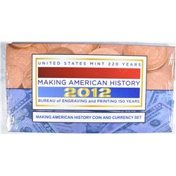 SEALED 2012 U.S. MINT MAKING AMERICAN HISTORY SET