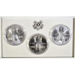 1984-P-D-S OLYMPIC UNC SILVER DOLLAR SET