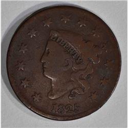 1825 LARGE CENT  FINE