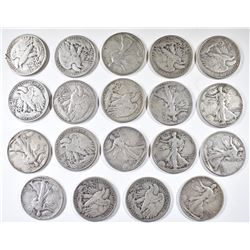 19 WALKING LIBERTY HALVES