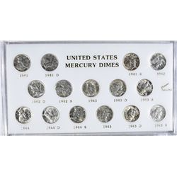 1941-1945 U.S. MERCURY DIME SET