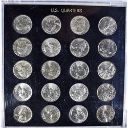 1941-1945 WAR YEARS WASHINGTON QUARTER SET