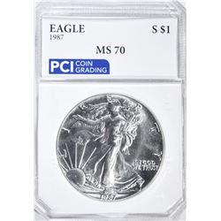 1987 AMERICAN SILVER EAGLE DOLLAR