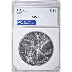 1989 AMERICAN SILVER EAGLE DOLLAR