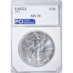 1991 AMERICAN SILVER EAGLE DOLLAR