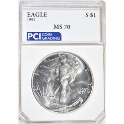 1992 AMERICAN SILVER EAGLE DOLLAR