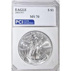 2001(W) AMERICAN SILVER EAGLE DOLLAR