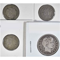 LOT: 3- CIRC THREE CENT NICKELS 2- 1865, 1866;