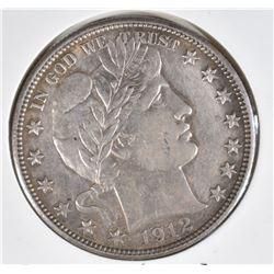 1912-D BARBER HALF DOLLAR  AU/UNC