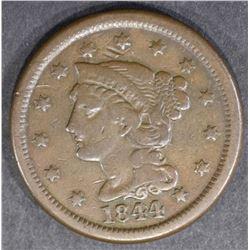 1844/81 LARGE CENT  FINE+