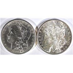 1880-S & 1900 MORGAN DOLLARS CH BU