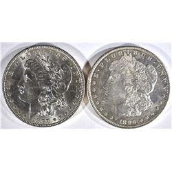 1896 & 1897 MORGAN DOLLARS CH BU