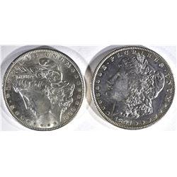 1897 & 1900 MORGAN DOLLARS BU