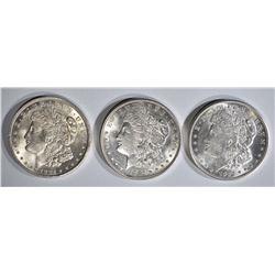 1921-P,D,S MORGAN DOLLARS BU