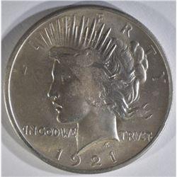 1921 PEACE DOLLAR BU