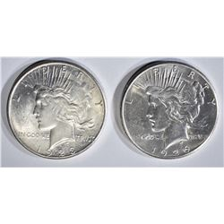 1923-S & 1926 PEACE DOLLARS AU/BU