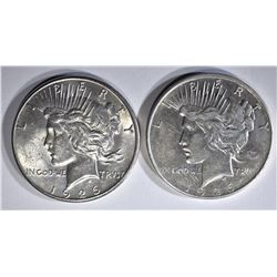 1926-D AU & 26-S BU PEACE DOLLARS