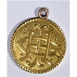 1853 $2.50 GOLD LIBERTY LOVE TOKEN