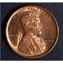 1909 LINCOLN CENT, GEM BU RED