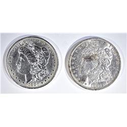 1880 & 85-O CH BU MORGAN DOLLARS