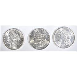 1883-O, 84 & 86 CH BU MORGAN DOLLARS