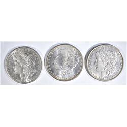 1883-S, 85-O & 98 CH BU MORGAN DOLLARS