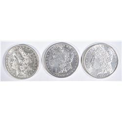 1883-O AU/BU 96 AU/BU & 1904 CH BU MORGAN DOLLARS