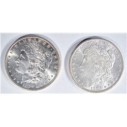 1886 & 1901-O CH BU MORGAN DOLLARS