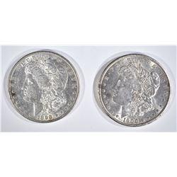 1898 & 1900 CH BU MORGAN DOLLARS