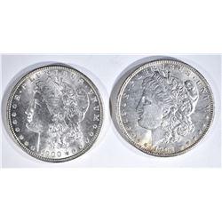 1900 & 1902-O CH BU MORGAN DOLLARS
