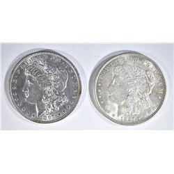 1897 BU & 1921 AU MORGAN DOLLARS