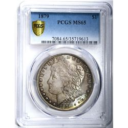 1879 MORGAN DOLLAR PCGS MS65