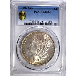 1882-O MORGAN DOLLAR, PCGS MS-65