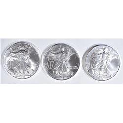 3-BU 1999 AMERICAN SILVER EAGLES