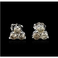 14KT White Gold 1.22 ctw Diamond Earrings