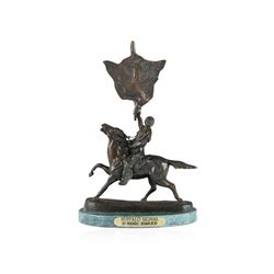 Buffalo Signal Bronze Replica By Frederic Remington