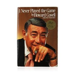 Signed Copy of I Never Played the Game by Howard Cosell