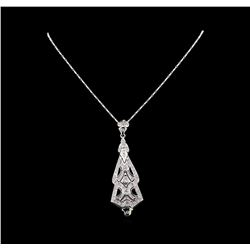 14KT White Gold 2.48 ctw Diamond Pendant With Chain
