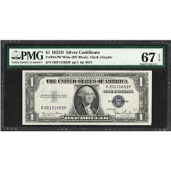 1935D $1 Silver Certificate Note Fr.1613W PMG Superb Gem Uncirculated 67EPQ