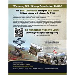2020 NWT Mountain Caribou Hunt Raffle
