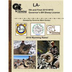 2019 WYO Governor's BH Sheep License