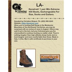 Kenetrek Men's Mountain Extreme 400 Boots, Exchangeable For Size With Socks And Gaiters.